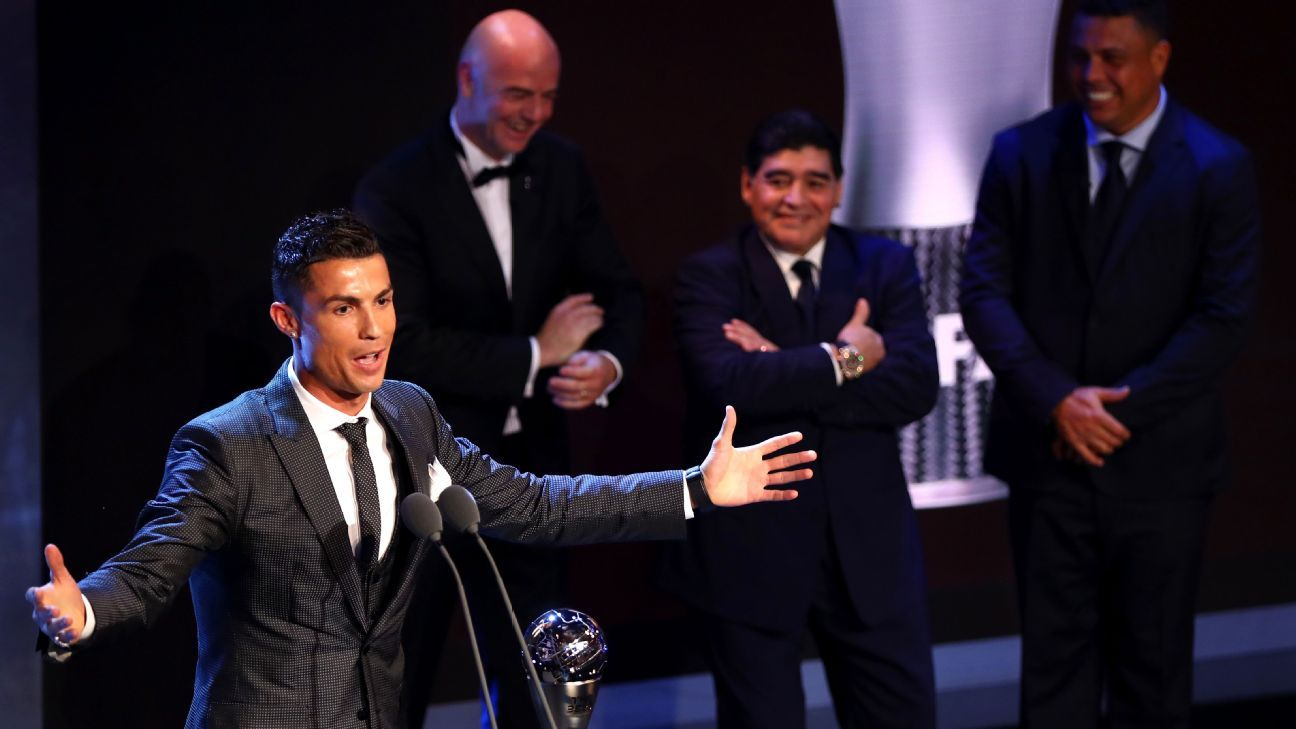 Ronaldo Best FIFA Men's Player award