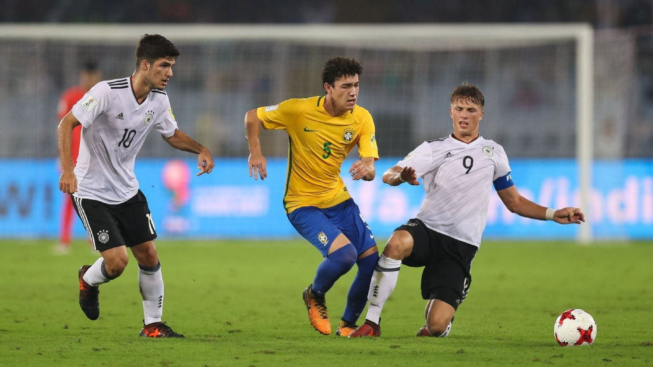 Midfielders Victor Bobsin (in picture) and Marcos Antonio will be crucial to Brazil's chances.
