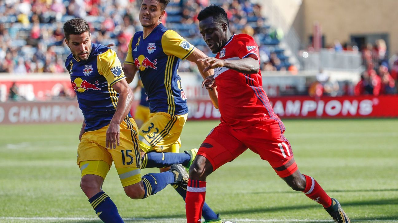 Chicago's leadership and firepower will be tested by battle-hardened Red Bulls