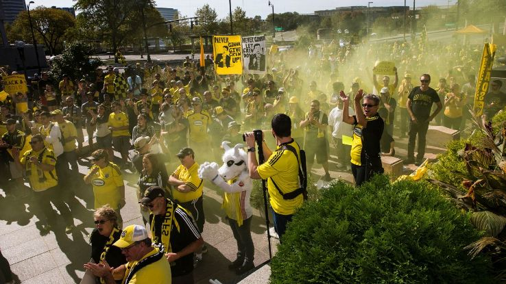Columbus Crew fan rally