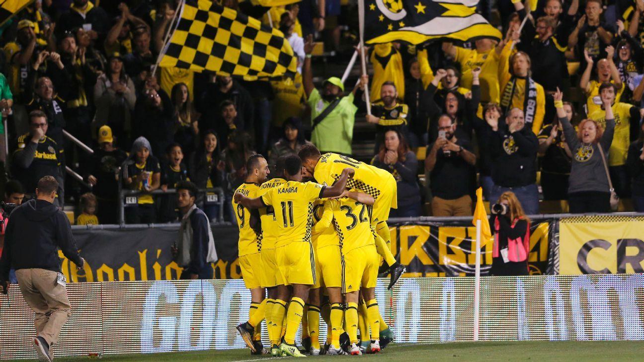 Columbus Crew SC celebrating