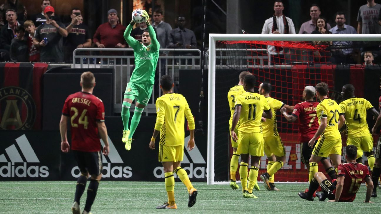Goalkeeper Zack Steffen was the hero for Columbus on Thursday.