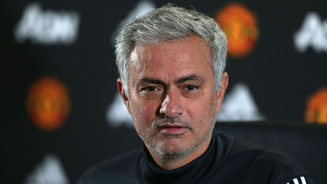 Jose Mourinho at a prematch news conference.