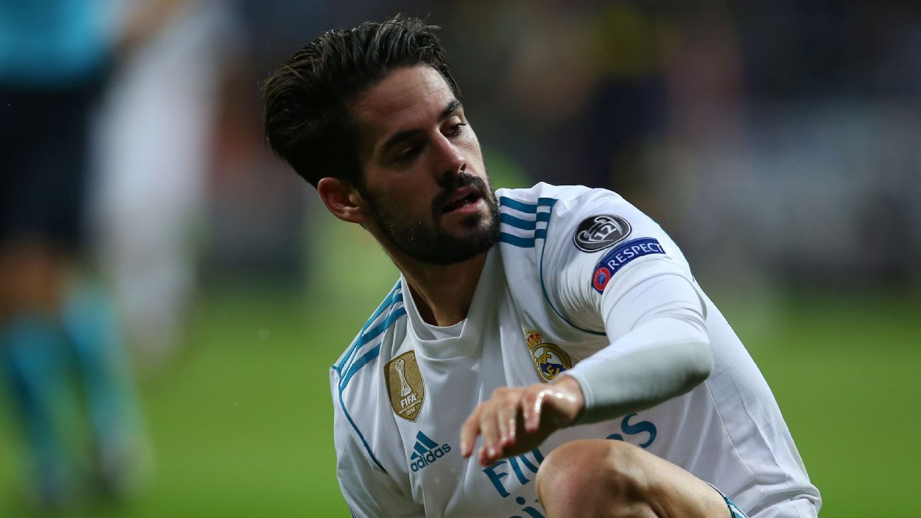 Isco during Real Madrid's Champions League game against Tottenham.