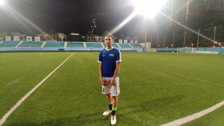 Singapore Under-18 midfielder Ben Davis