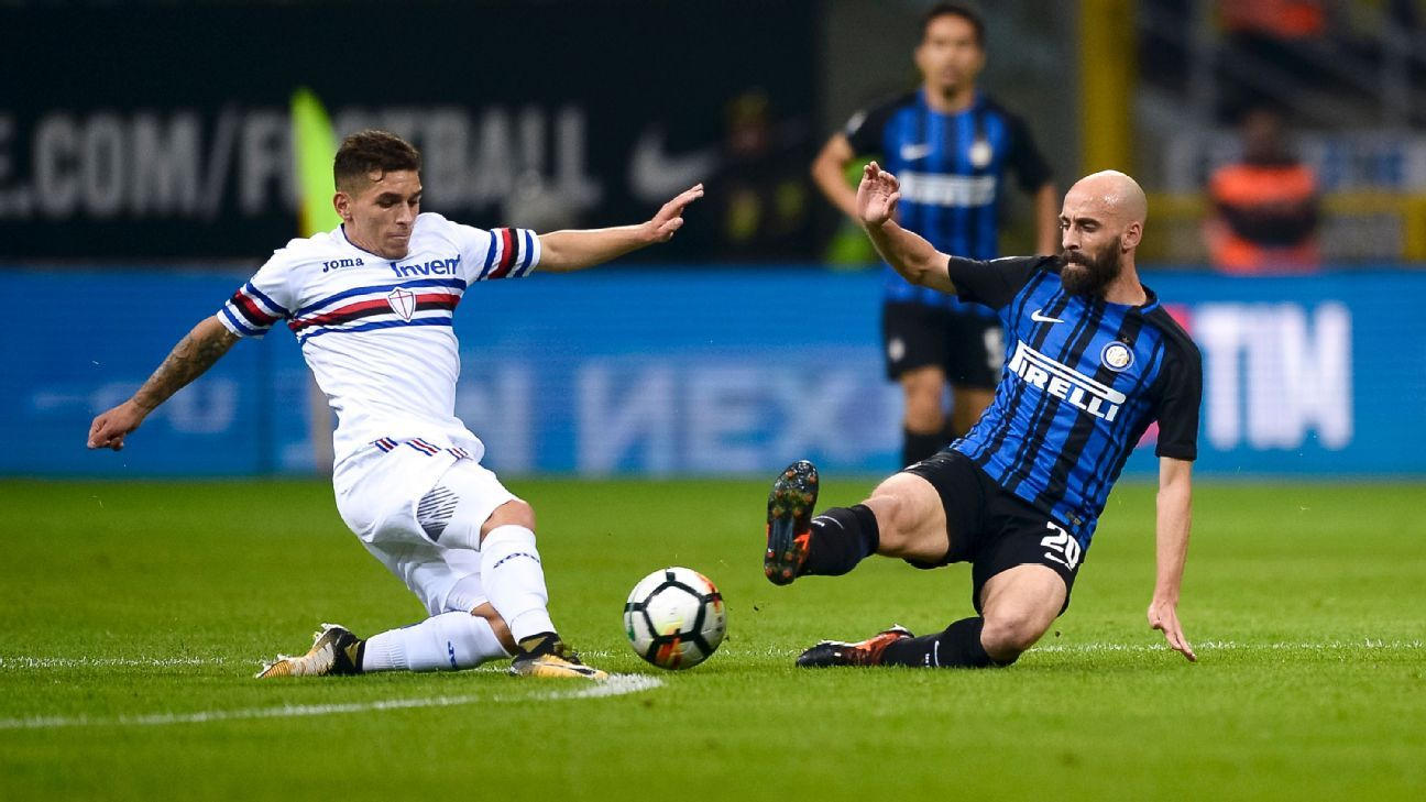 Lucas Torreira has caught Arsenal's eye while playing for Sampdoria.