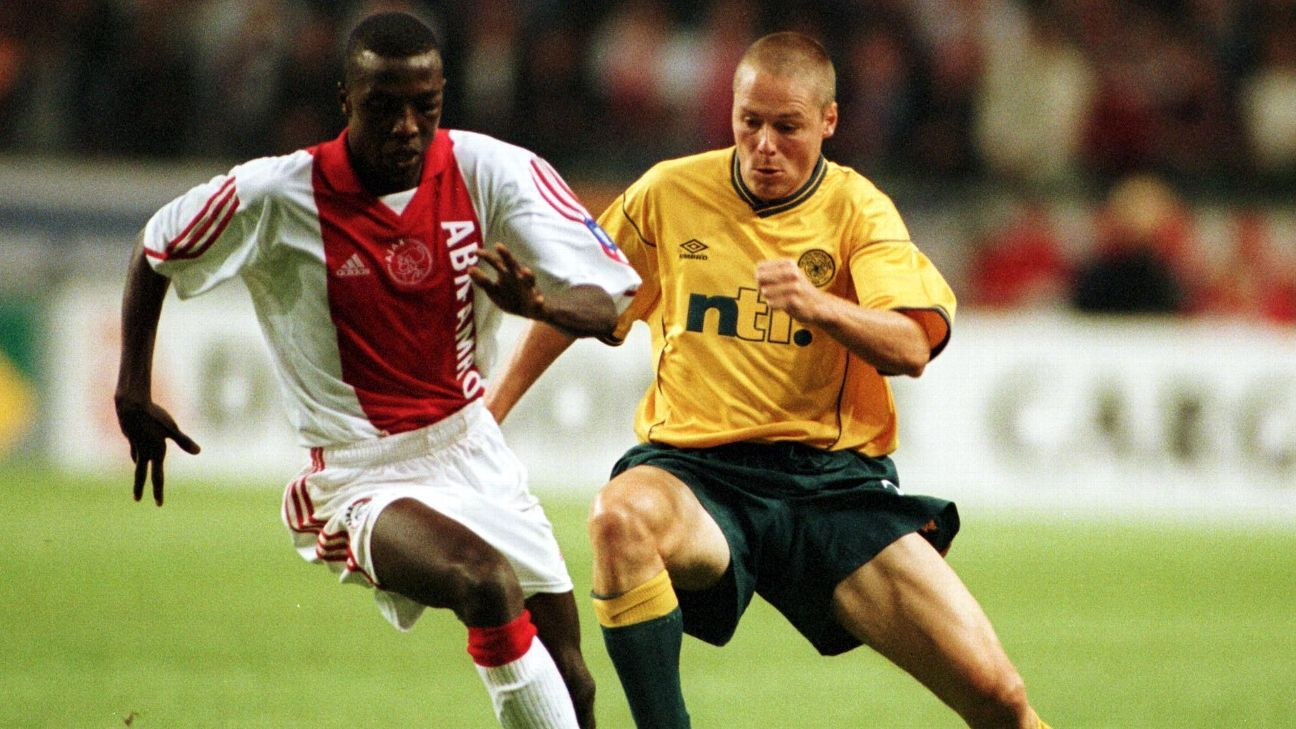 Abubakari Yakubu of Ajax, Celtic's Steve Guppy