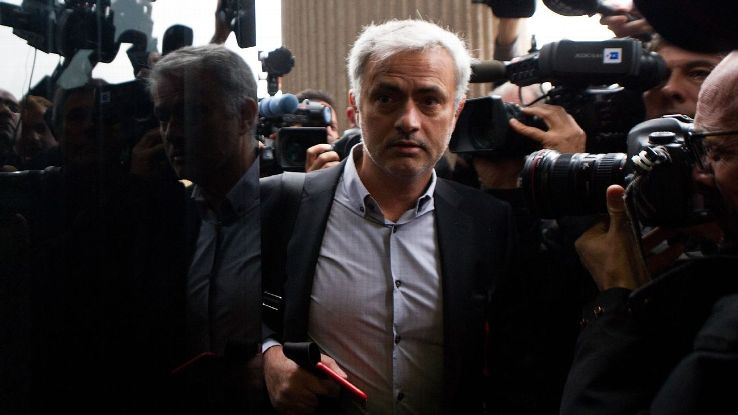 Manchester United manager Jose Mourinho arrived at court in Madrid for hearing in tax case.