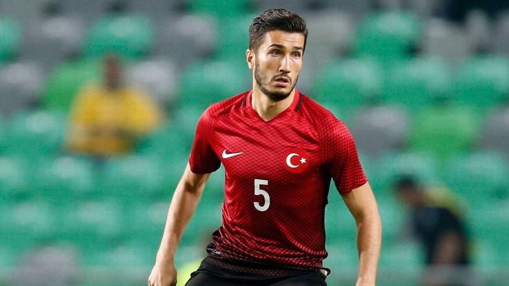 Nuri Sahin during the international friendly soccer match between Slovenia and Turkey.
