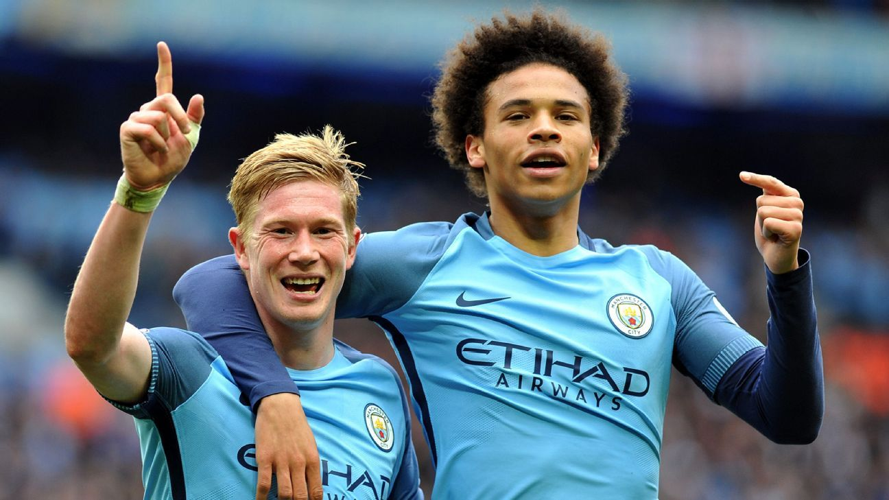 Kevin De Bruyne and Leroy Sane