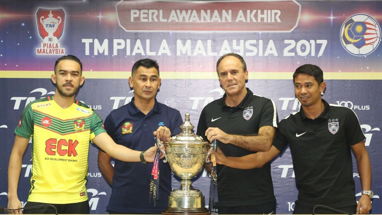 JDT and Kedah captains, coaches before 2017 Malaysia Cup final
