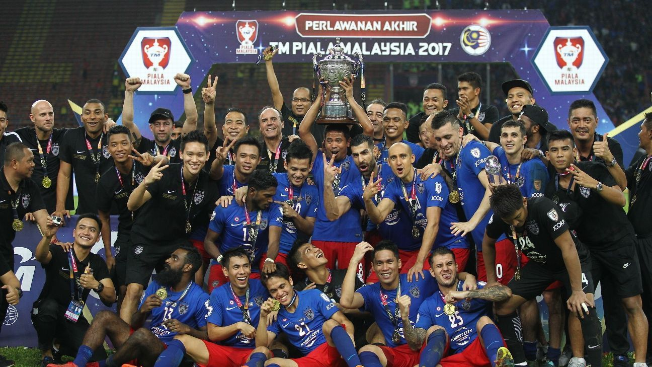 JDT win 2017 Malaysia Cup final