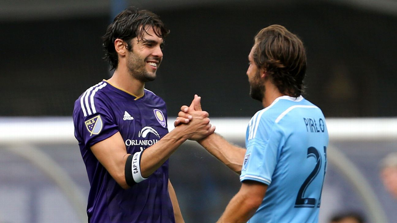 Kaka and Andrea Pirlo