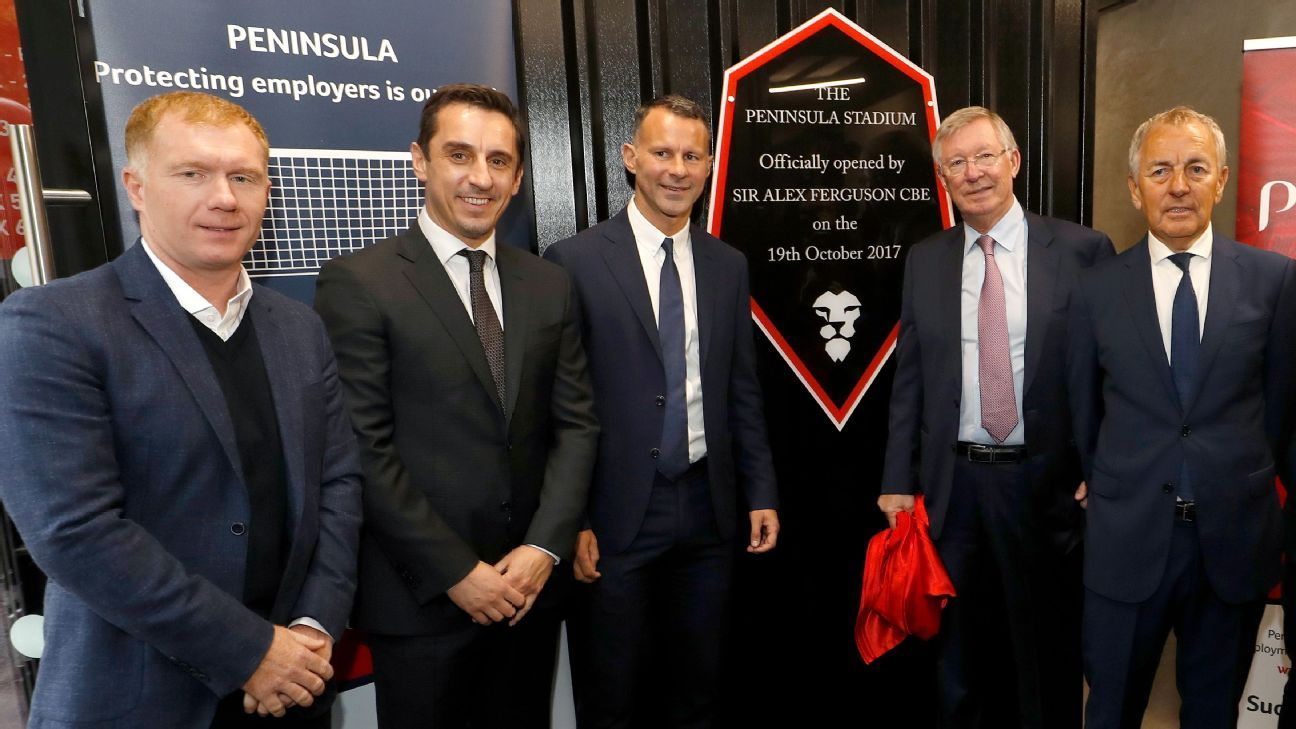 Sir Alex Ferguson unveiled a plaque to commemorate Salford City's new stadium name.