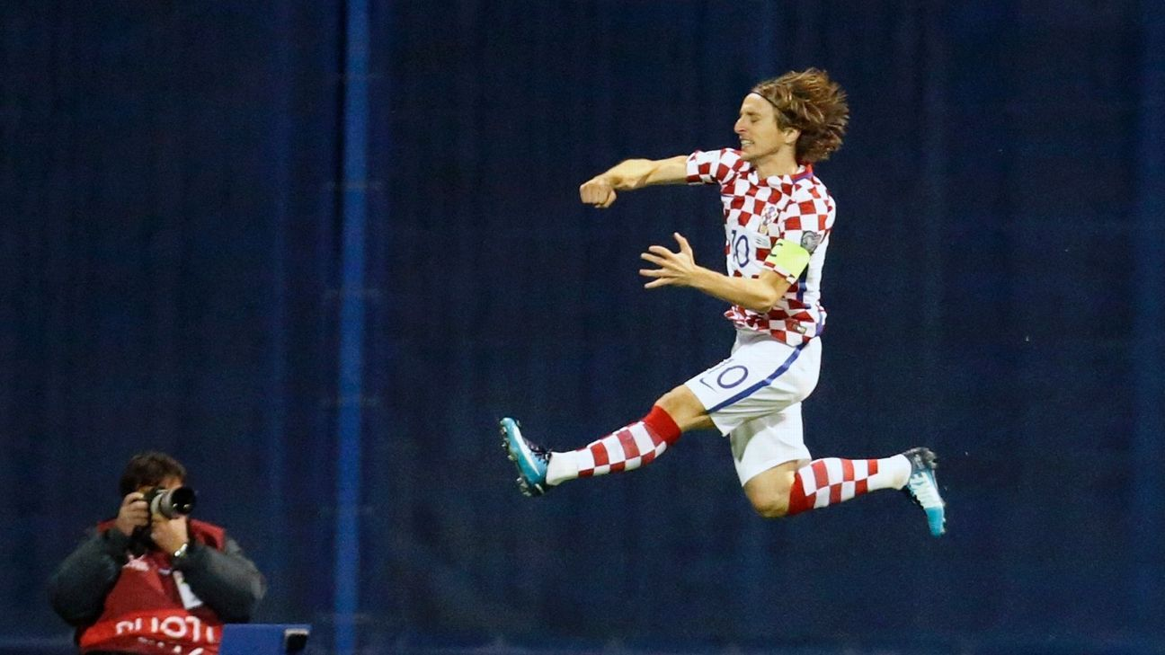 Luka Modric opened the scoring.