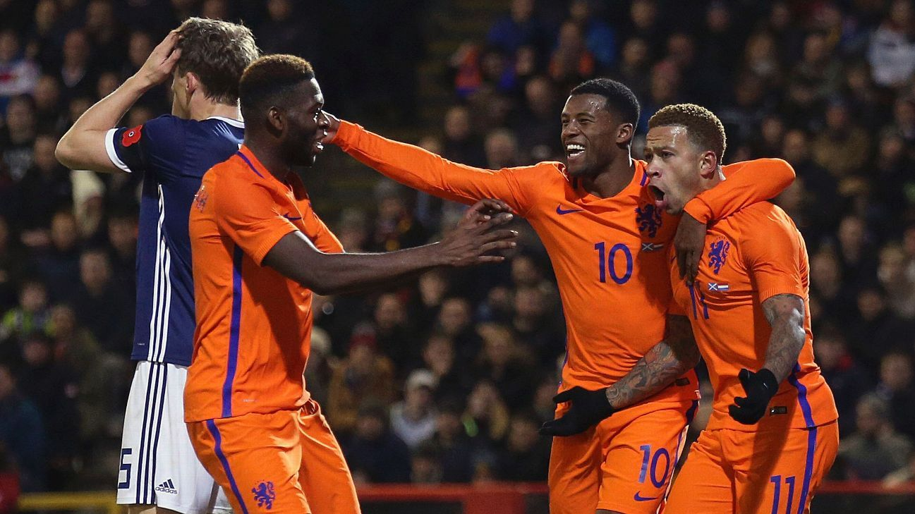 Netherlands scored a 1-0 victory over Scotland in Thursday's friendly.
