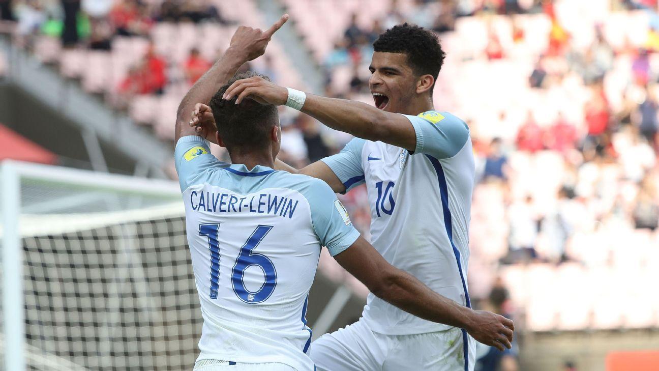Dominic Calvert-Lewin and Dominic Solanke England U20s