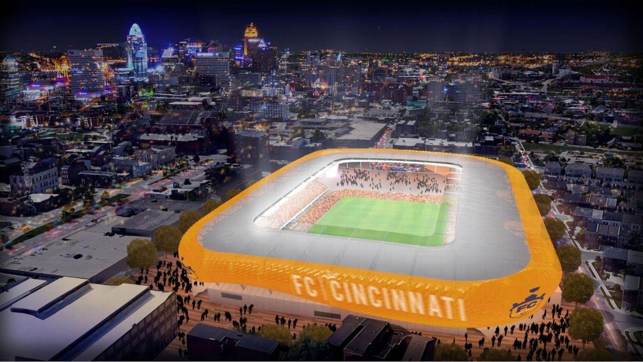 FC Cincinnati stadium rendering