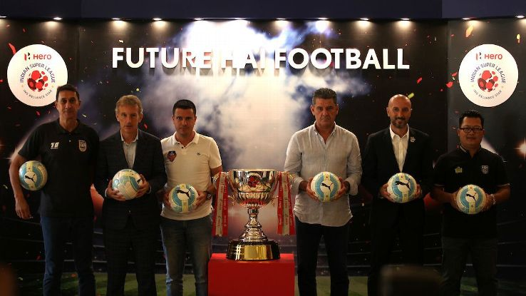 From left to right: Alexandre Guimaraes, Albert Roca, Sergio Lobera, John Gregory, Ranko Popovic, and Thangboi Singto