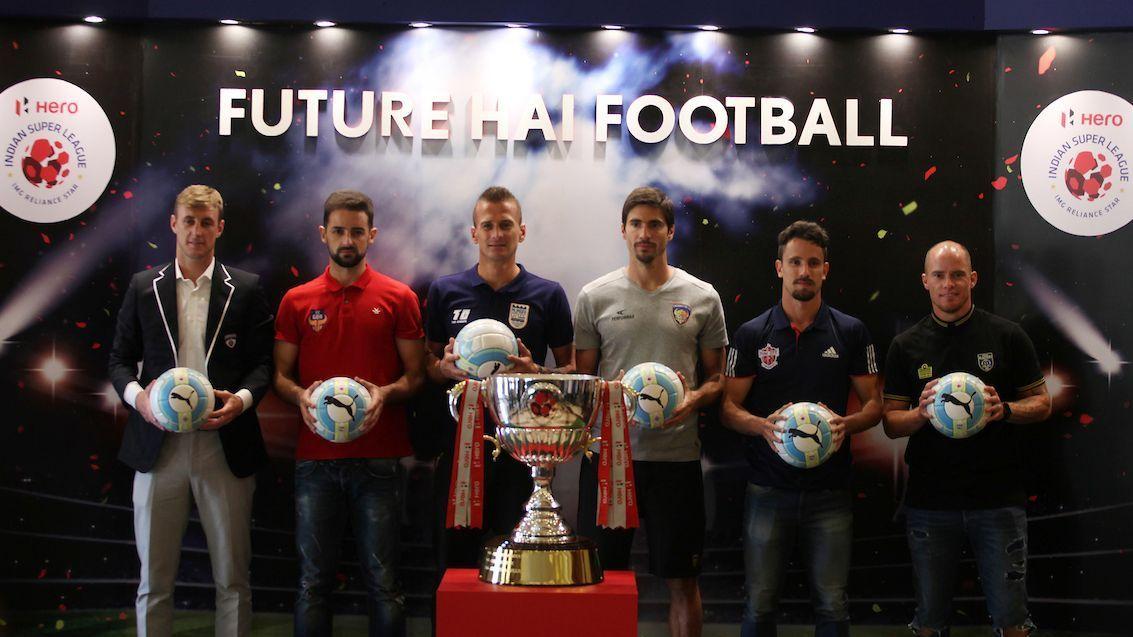 From left to right: John Johnson, Bruno Pinheiro, Lucian Goian, Sereno Henrique, Marcelinho, and Iain Hume