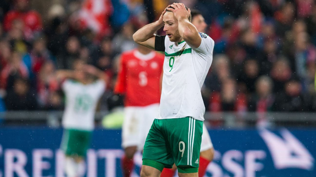 Northern Ireland fell to Switzerland at the World Cup playoff stage on Sunday.