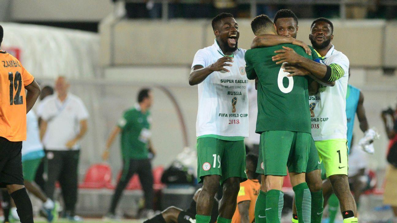 John Ogu, Leon Balogun & John Obi Mikel of Nigeria