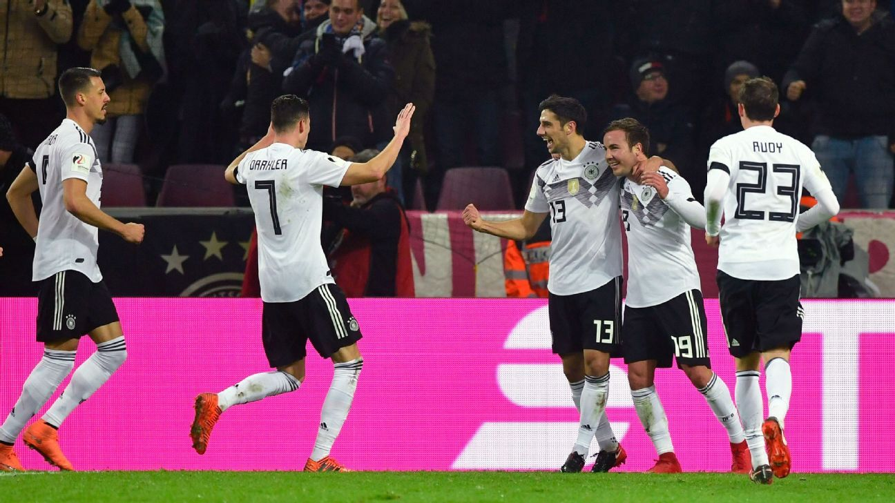 Germany celebrate Lars Stindl's late leveller.