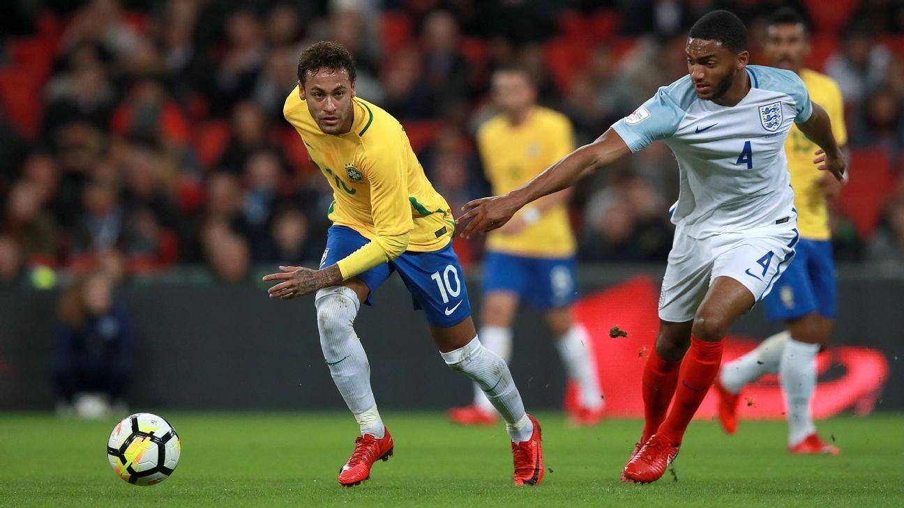 Neymar Joe Gomez Brazil England
