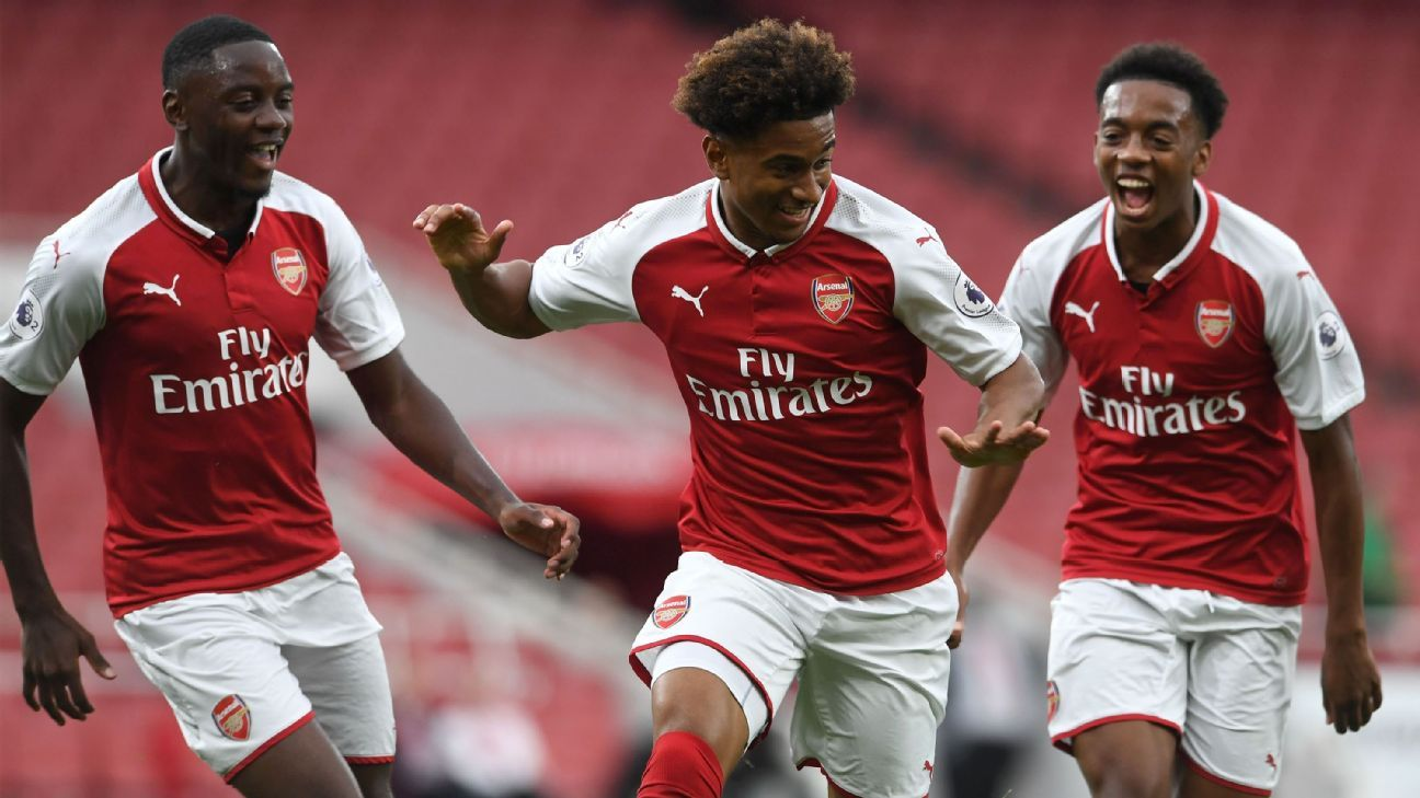 Josh DaSilva, Reiss Nelson and Joe Willock (l-r) are three of Arsenal's promising youth products