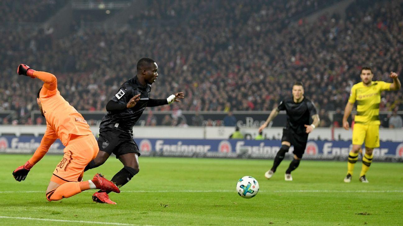 Roman Burki's gaffe gifted Stuttgart a fifth-minute opener.