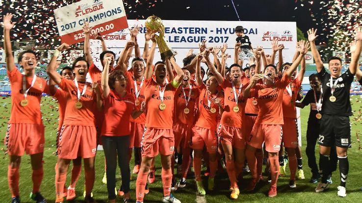 Albirex celebrate 2017 S.League title victory