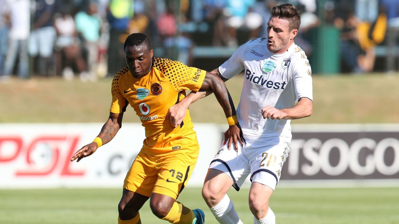 George Maluleka of Kaizer Chiefs, James Keene of Bidvest Wits