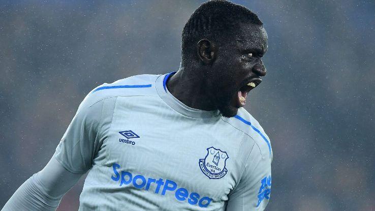 Everton's Oumar Niasse celebrates goal against Crystal Palace