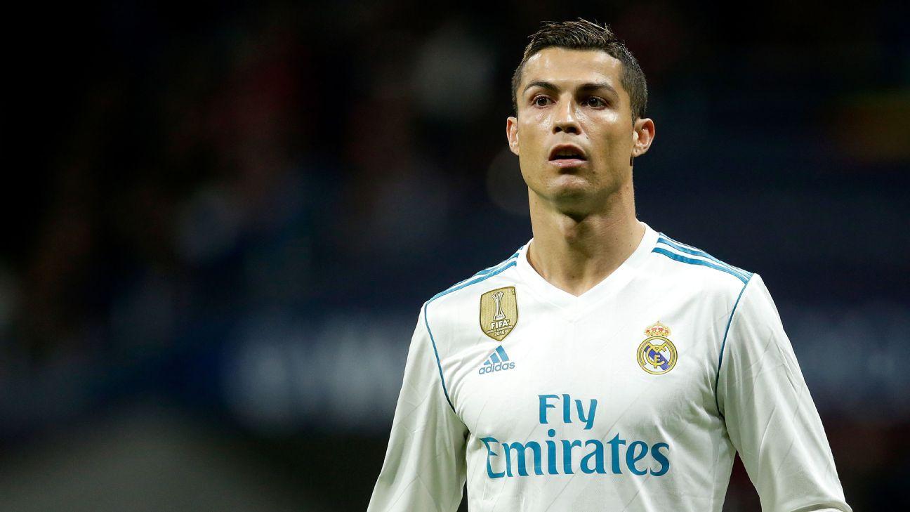Cristiano Ronaldo during Real Madrid's La Liga fixture against Atletico Madrid.