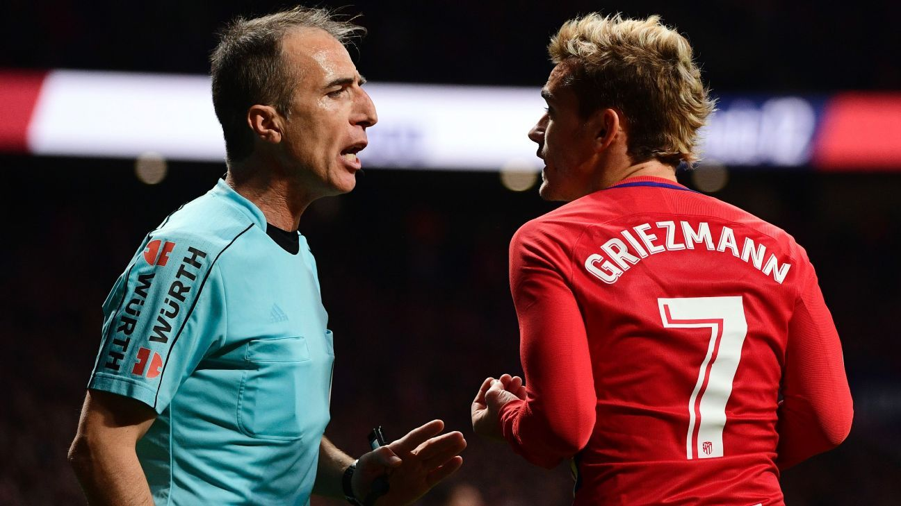 Griezmann argues vs Real 171118