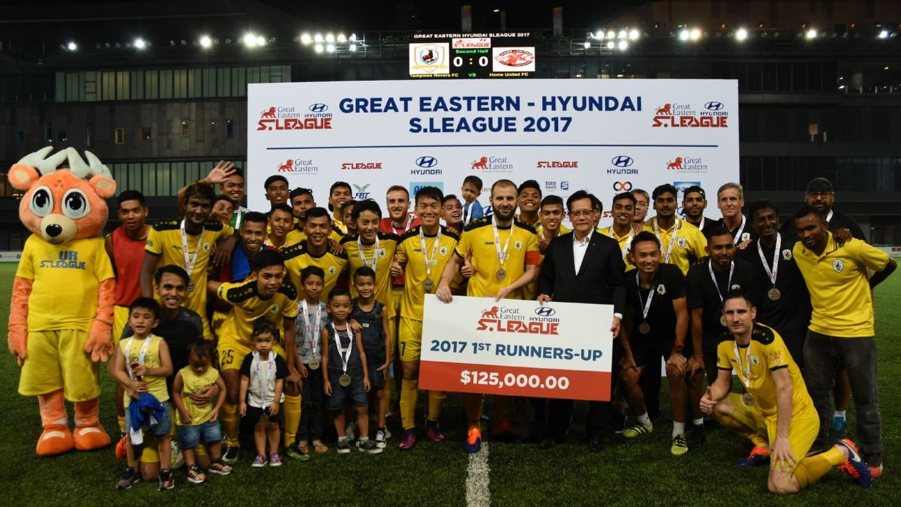 Tampines Rovers runners up in 2017 S.League presentation