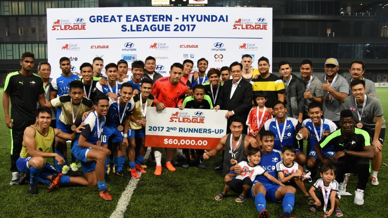 Home United third place in 2017 S.League presentation