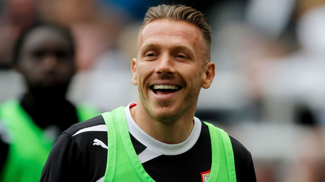 Craig Bellamy during his time as a player at Cardiff.