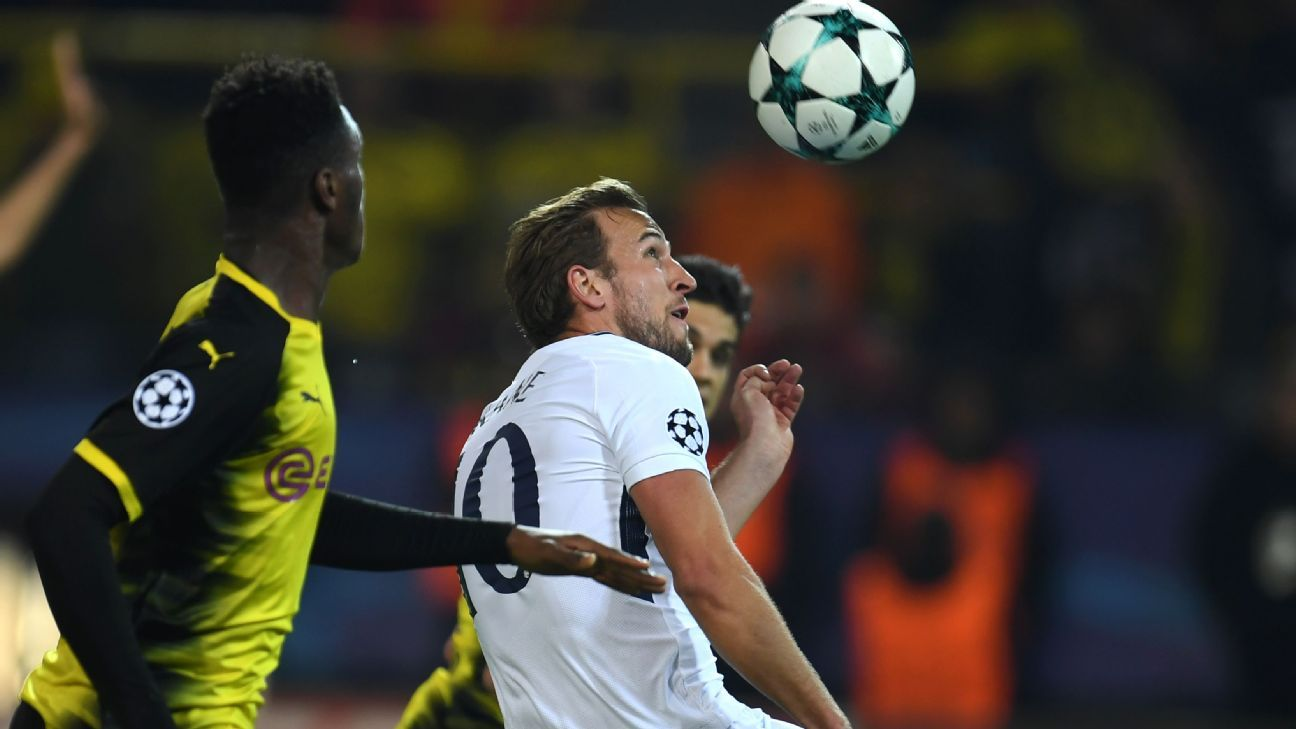 Tottenham Hotspur's Harry Kane levelled up the game in Dortmund.