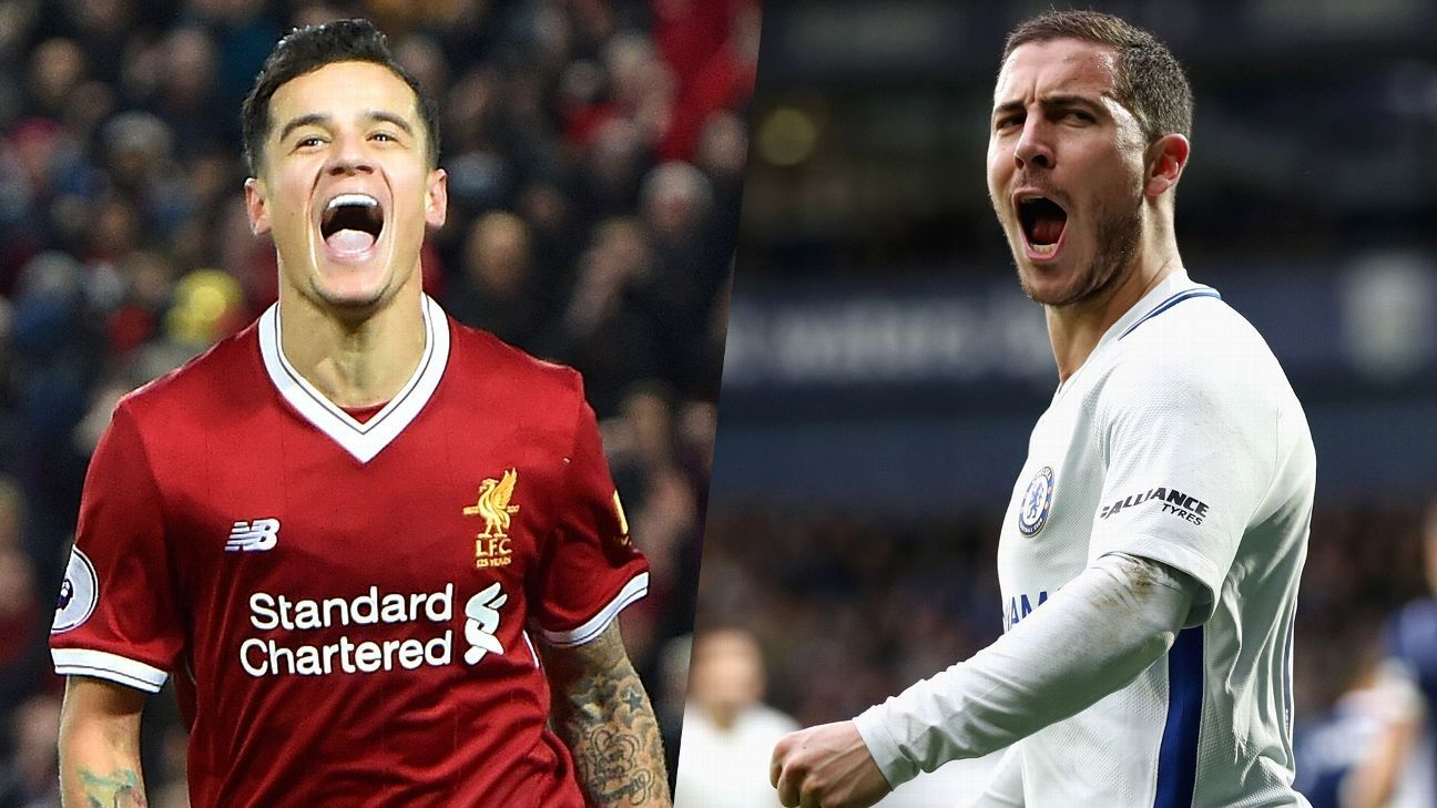 Philippe Coutinho and Eden Hazard