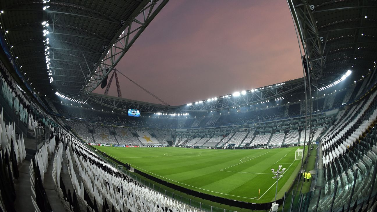 The Allianz Stadium in Turin ahead of Juventus' clash with Barcelona.
