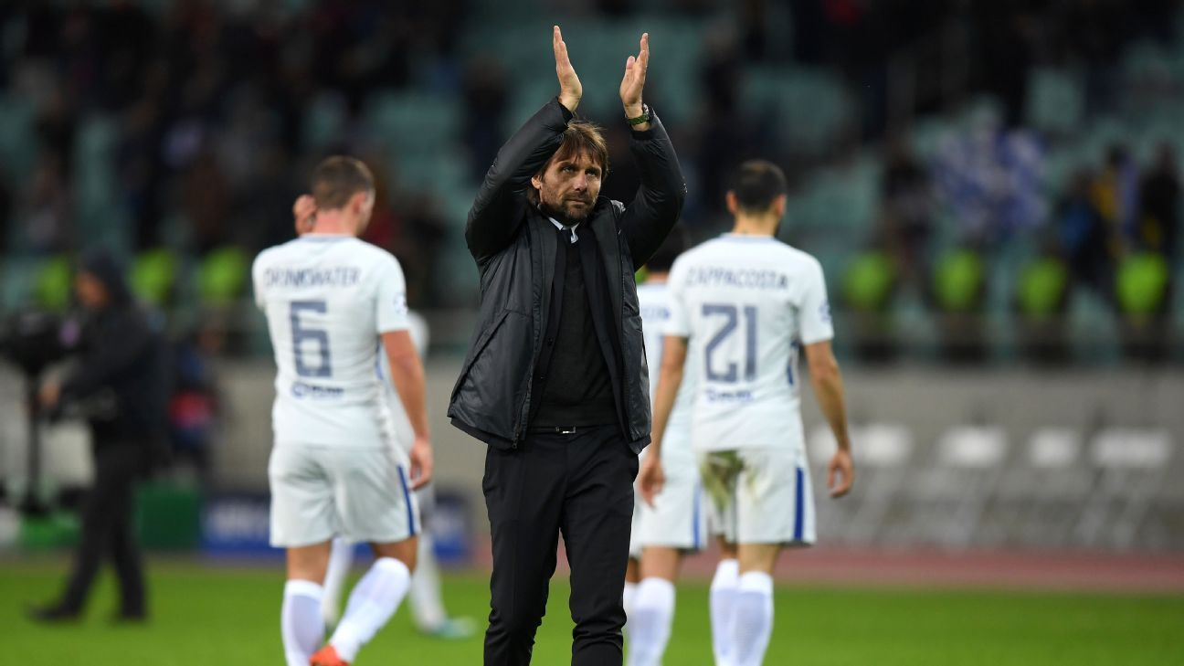 Conte applauds vs Qarabag 171122
