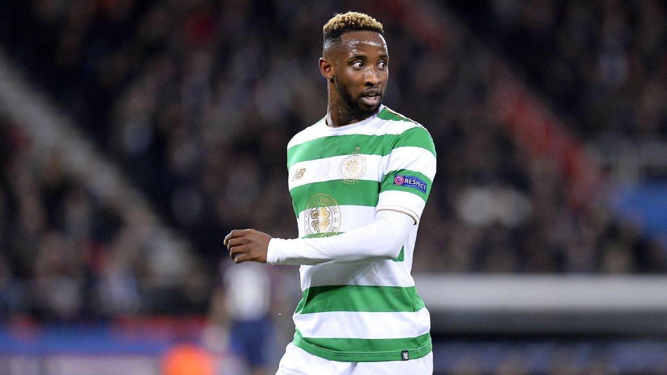 Moussa Dembele in action for Celtic in their Champions League defeat against Paris Saint-Germain.