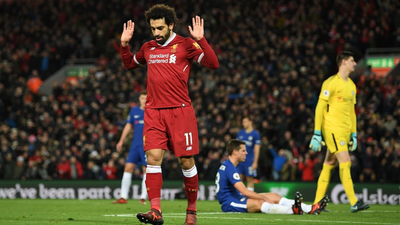 Mohamed Salah opened the scoring for Liverpool.