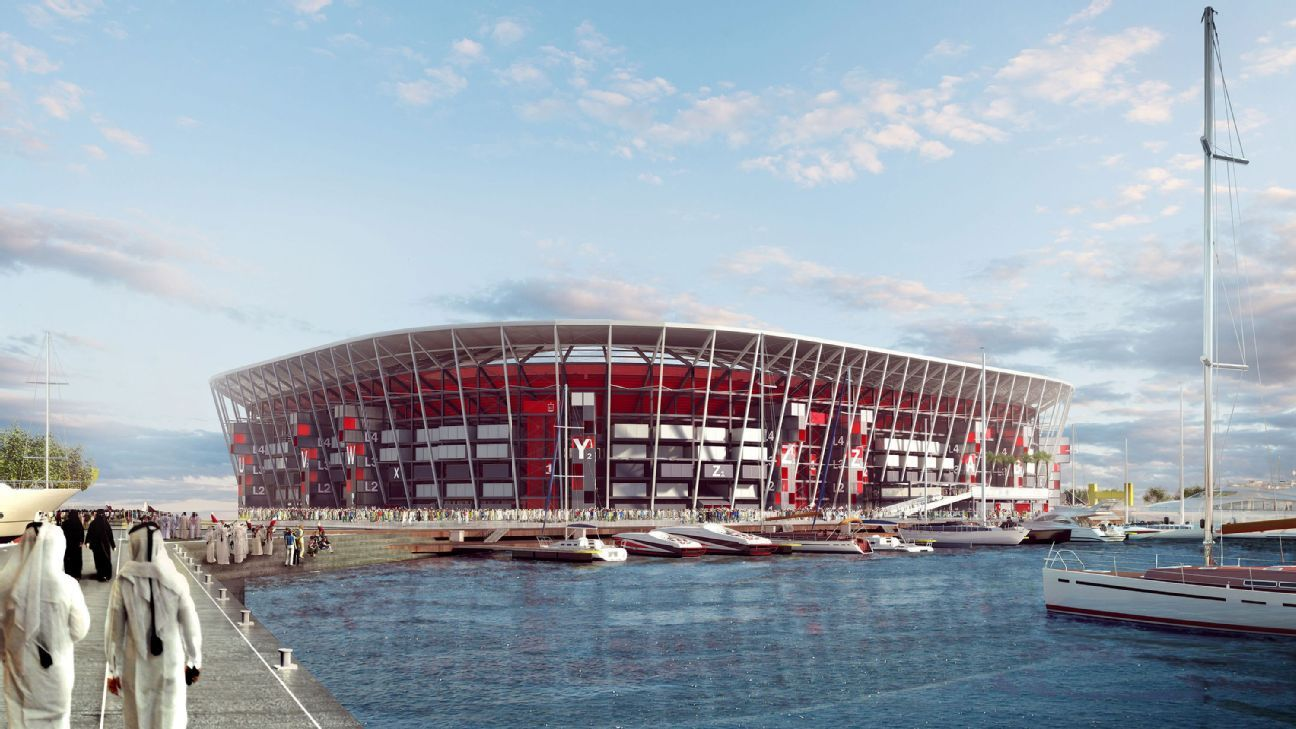 The Ras Abu Aboud Stadium is the seventh of eight World Cup venue designs to be announced.