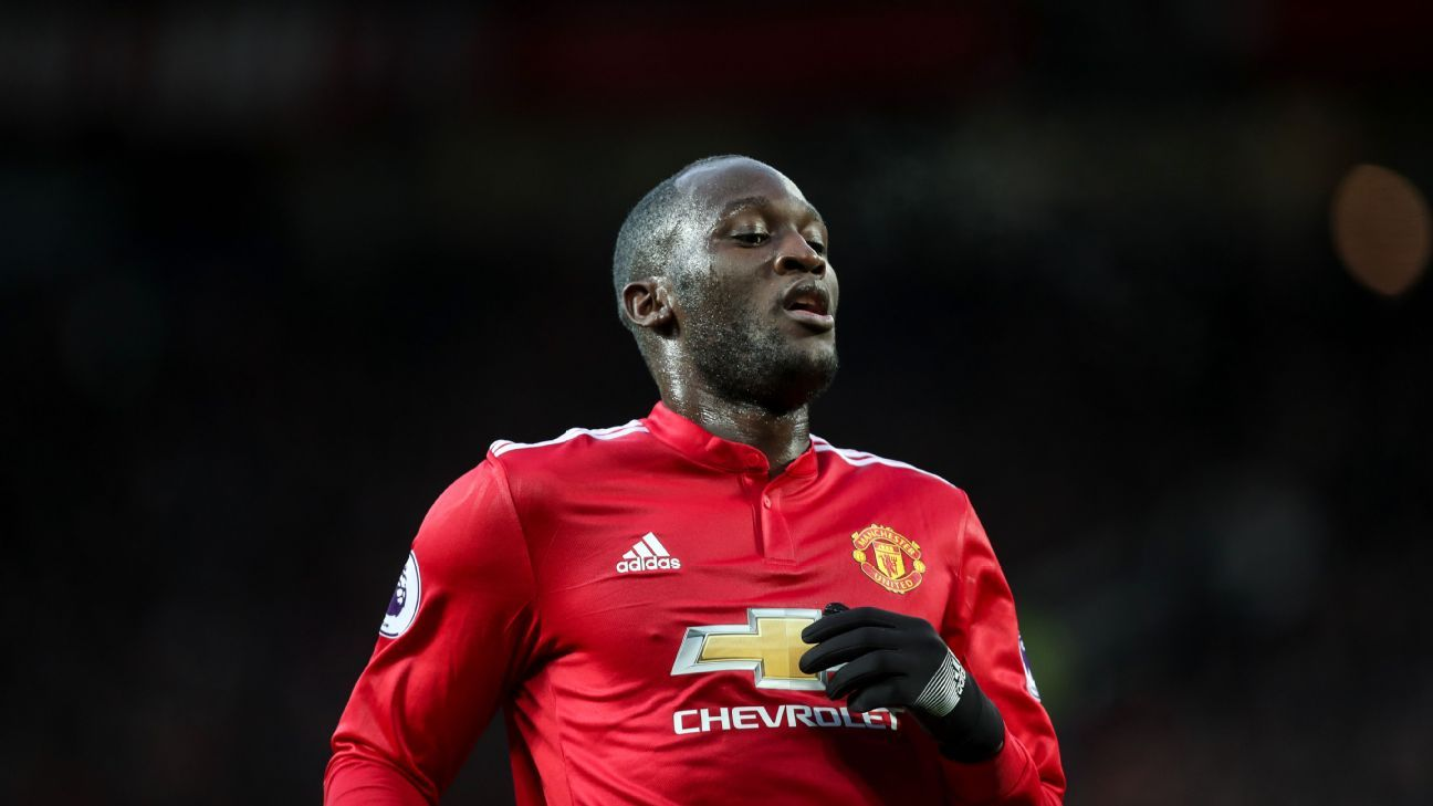 Romelu Lukaku during Manchester United's Premier League game against Brighton.
