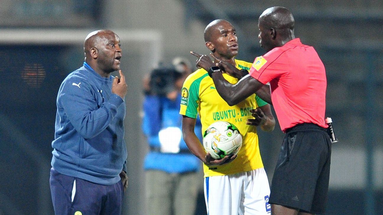 Pitso Mosimane argues with an official again