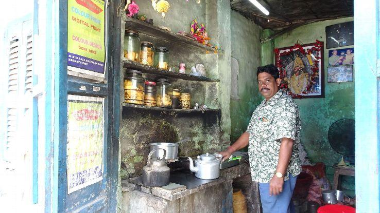 Bapi Maji at his tea shop