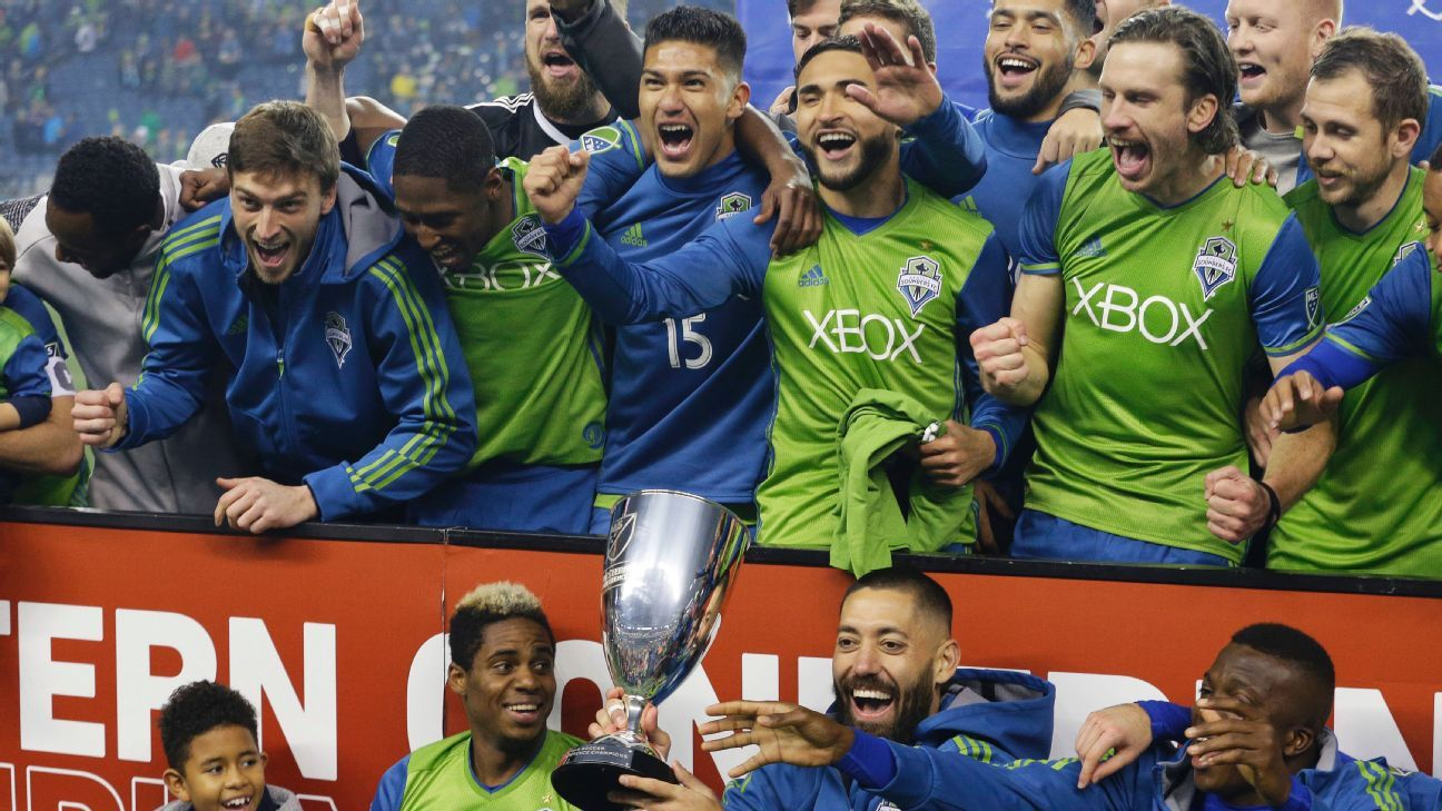 Seattle Sounders celebrate