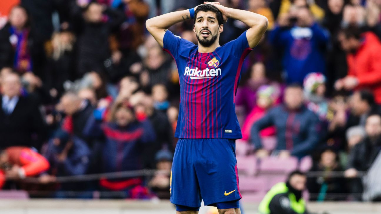 Luis Suarez scored but Barcelona had to settle for a point against Celta Vigo.